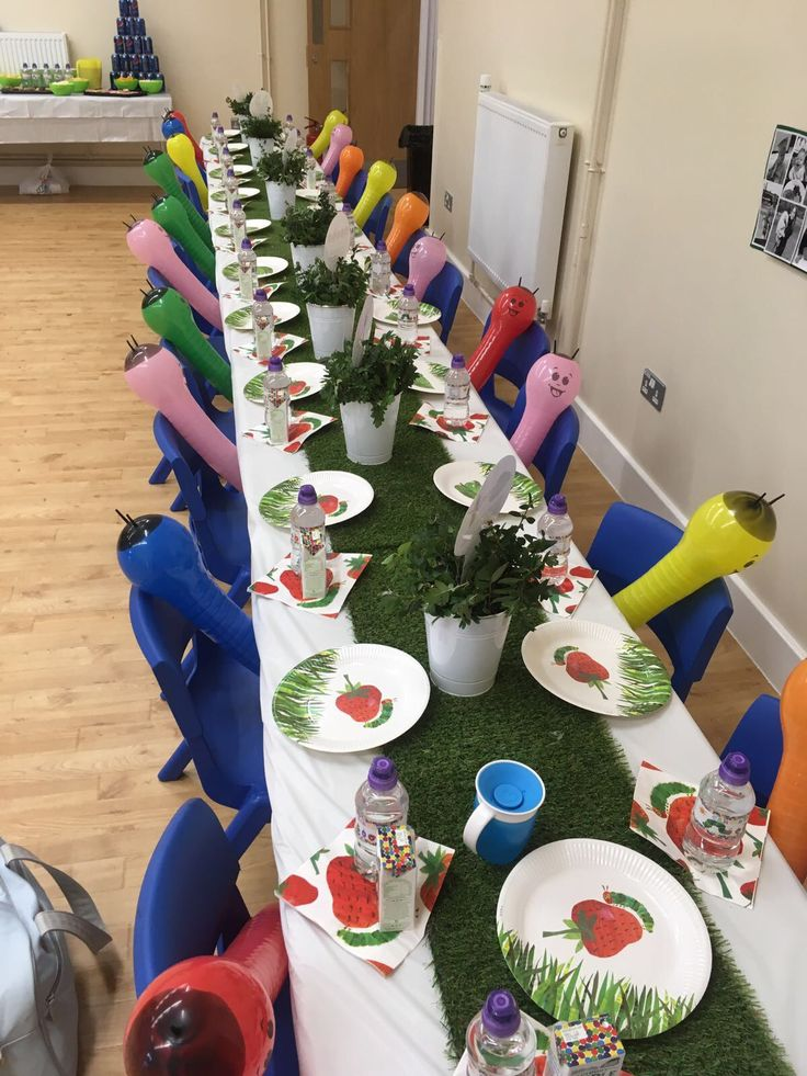 Hungry Caterpillar table decor