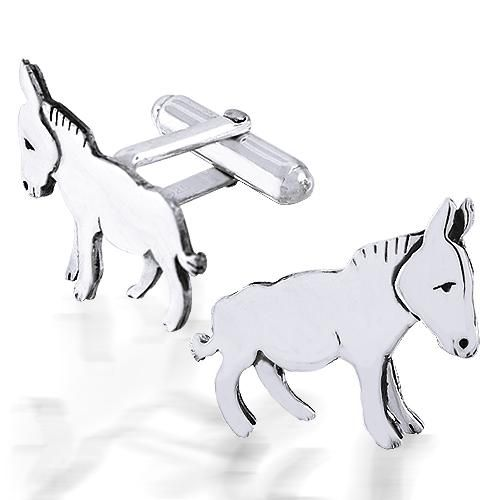Sterling Silver Donkey Cufflinks