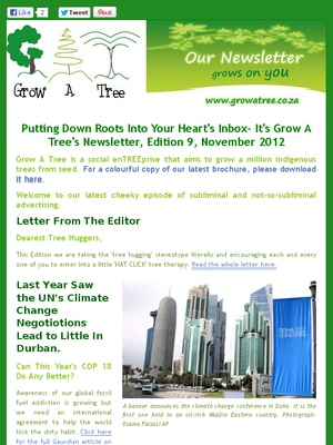 """Edition 9- """"Putting Down Roots into your Heart's Inbox""""- November 2012"""