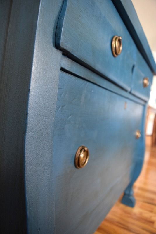 Crafting A Bedside Table :: Timeless Creations, LLC teal dresser, teal bedside table, end table makeover, dresser makeover