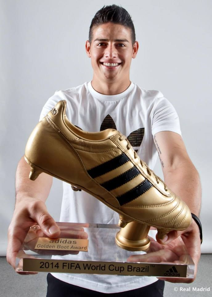 James Rodriguez Golden Boot Award 2014 FIFA World Cup Brazil