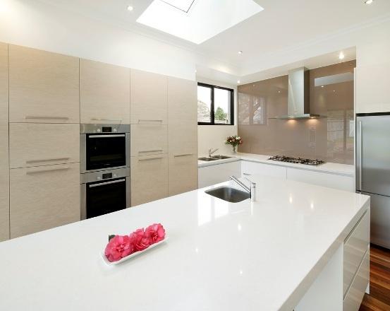 White Swirl Quantum Quartz Wonderful Kitchens Nsw