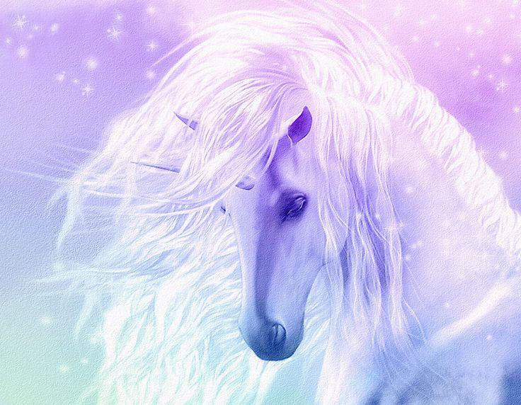 "Beautiful Fantasy Unicorn Flowing Mane Pink Canvas Art Print 8""x 10"" Horse   eBay"