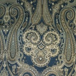 Beth Blue Paisley Upholstery Fabric