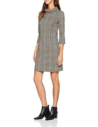 7f68bb7e8 Tom Tailor Casual Glencheck Kleid Mit Modischen Turtle Neck Vestido para  Mujer Gris Artwork Wi 13981