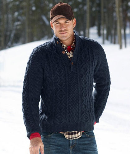 For...the studly, rugged (or not so, in my case) man in your life // Wool Cable Pullover