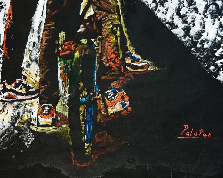 Сергей Полупанов «Без названия», фрагмент. 2014. Флизелин, акрил. 150х150 см. #art #contemporaryart #russianart