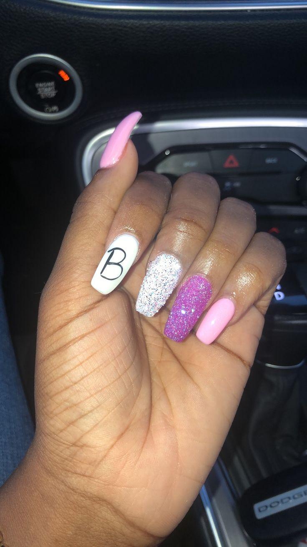 Nails with boyfriend initials 😍😍😍 Insta KraveKae Sc krave ...