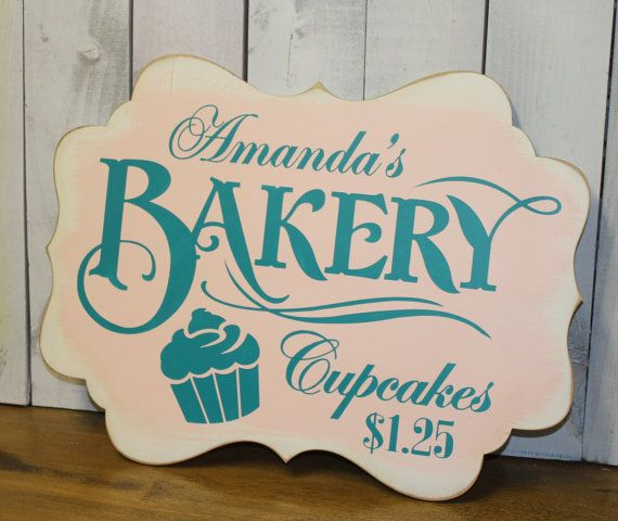 "Kitchen Signs For Sale: Bakery Cupcakes Sign/ Bakery Sign/Bake Sale/""Photo Prop"