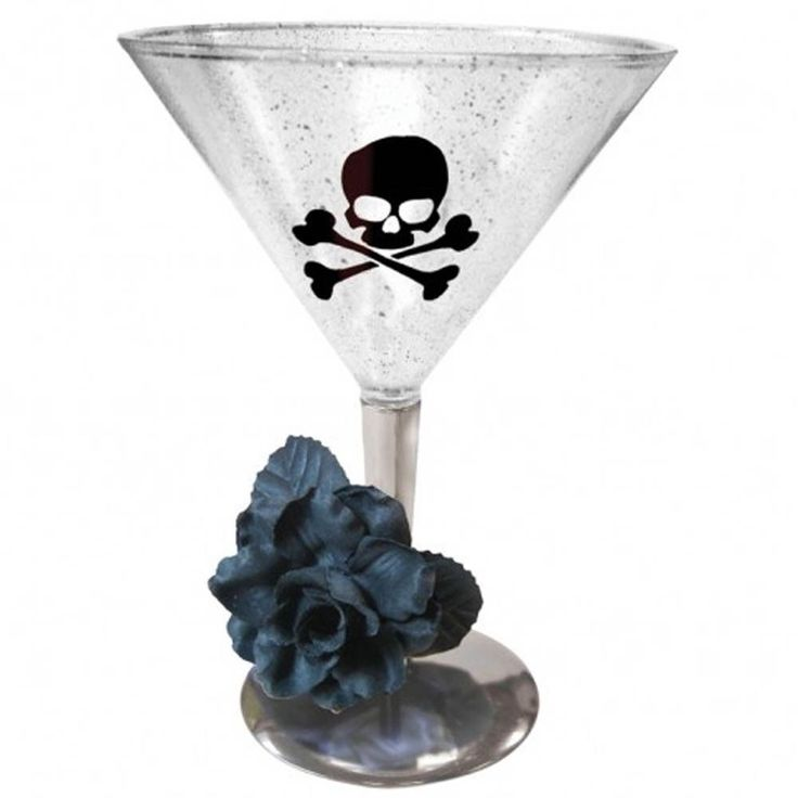 Haunted Halloween Gothic Rose Poison Elegant Party Tableware Martini Glass #Party #Halloween