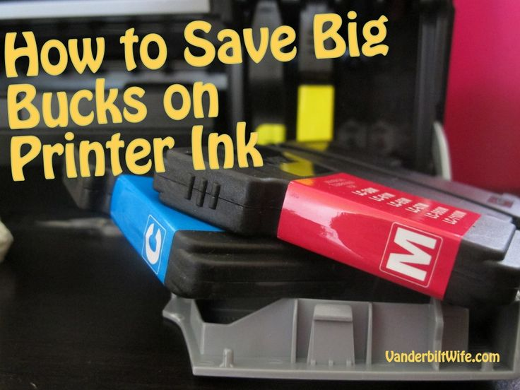 How to Save Big Bucks on Printer Ink Cartridges -- such a COOL tip!