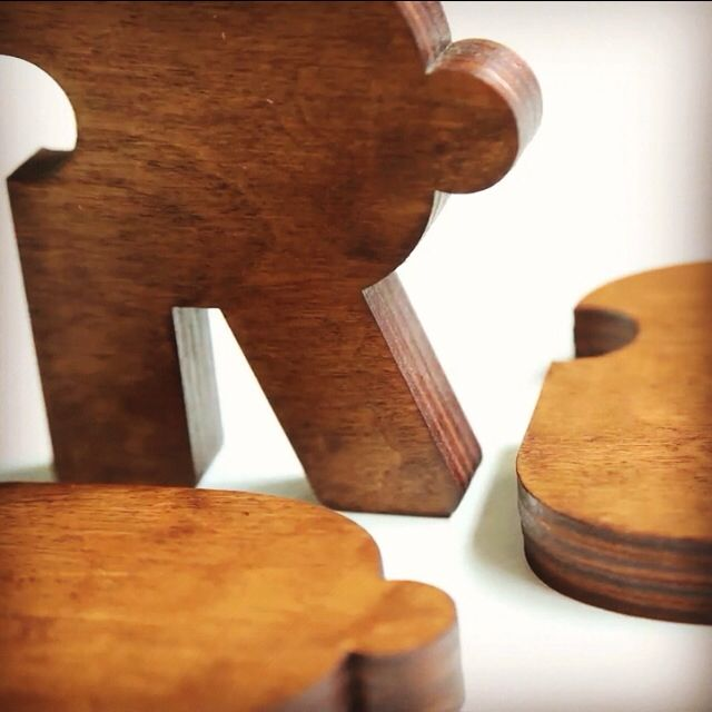 Detail shot of my first wooden typography puzzle lettering. To be continued!