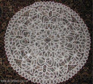 "Round Battenburg Lace Table Cloth 33"""