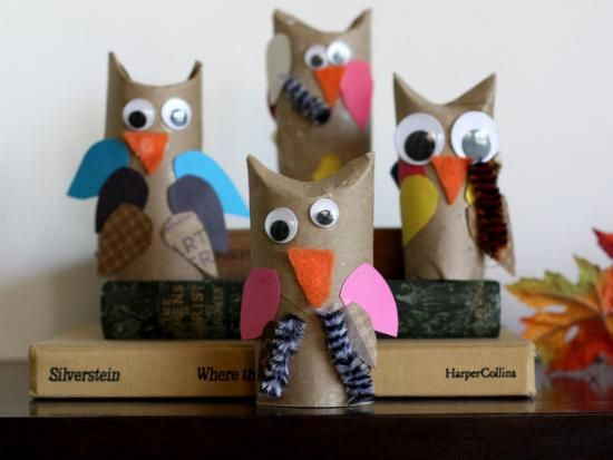 Cool project from http://www.kiwicrate.com/projects/Cardboard-Tube-Owls/546: Cardboard Tube Owls