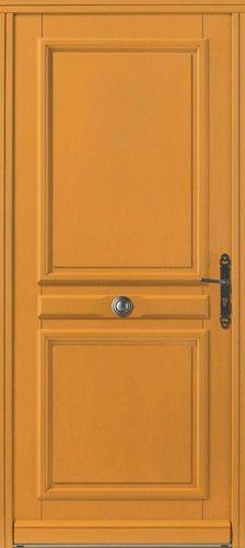 Porte bois, Porte entree, Bel'm, Classique, Poignee plaque rustique, Bouton rustique, Sans vitrage Caceres