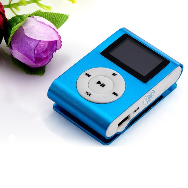 New LCD Screen Mini Clip Mp3 Player Electronic Products Sports Metal Mini MP3 Music Player Support 32GB Micro SD TF Card Mar21