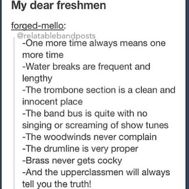 In the band I play in (I play the trombone) the flutes are the most conceited  <--------- Amen