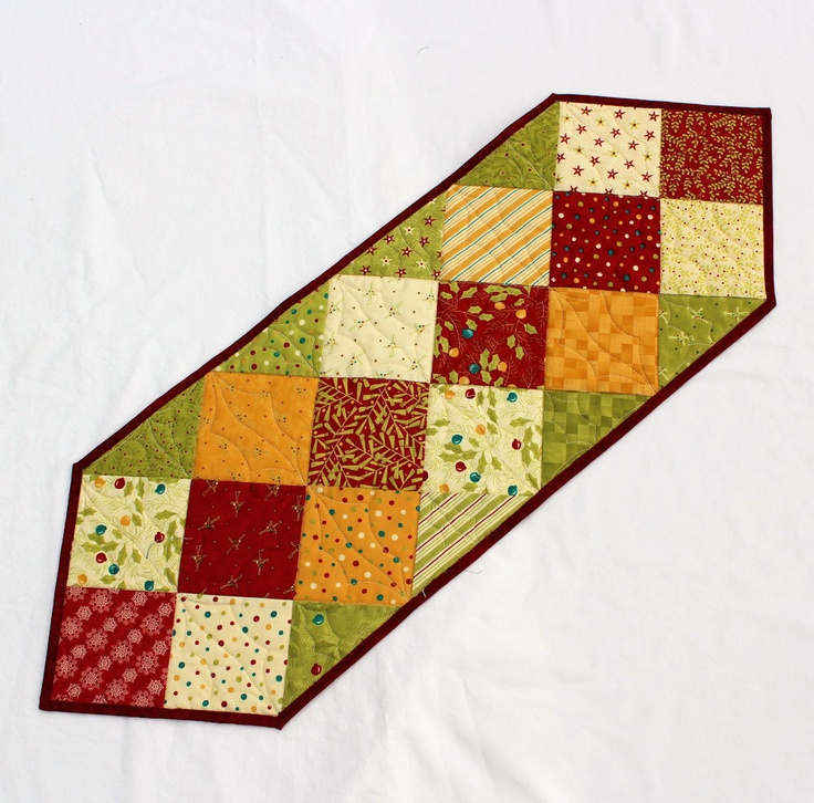 Christmas Charms Table Runner Quilt. $30.00, via Etsy.