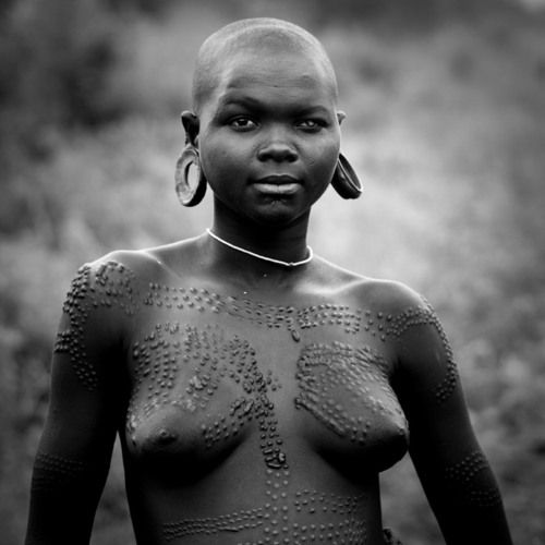 Duly african tribe white woman