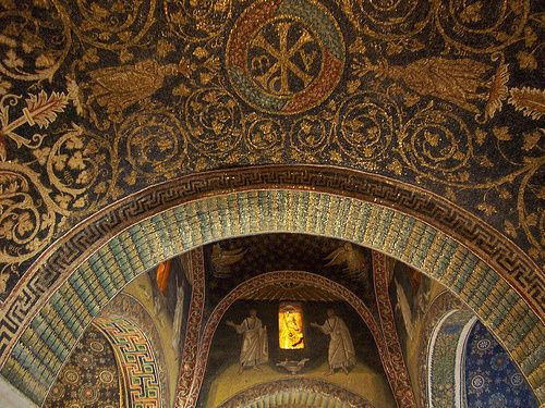 Mausoleum of Galla Placida - Ravenna, Italy, first half of the V century. #mosaic - Photo by by saintpeg