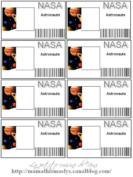 carte astronaute vierge