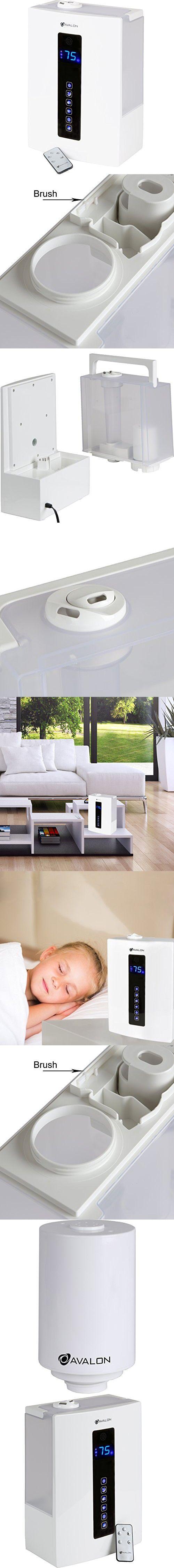 Avalon Premium 5 Liter Ultrasonic Digital Humidifier - Cool/Warm Mist, No Noise, Adjustable Humidity Levels, Remote, Filter, Nightlight, ETL Approved