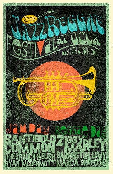27th Annual JazzReggae Festival Poster by chetslaterdesign on CreativeAllies.com