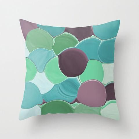 Teal Pillow Cover Accent Pillow Cover Decorative Pillow Cover Home Decor Cushion Cover Throw Pillow Cover Purple Pillow Cover - HLB Home Designs