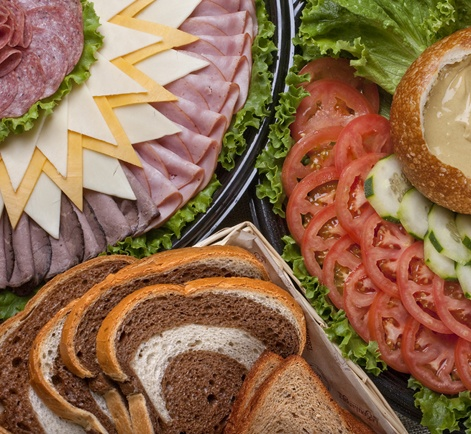 Create Your Own Sandwich Platter, Le Boulanger is literally right across the street and provides very affordable catering options.