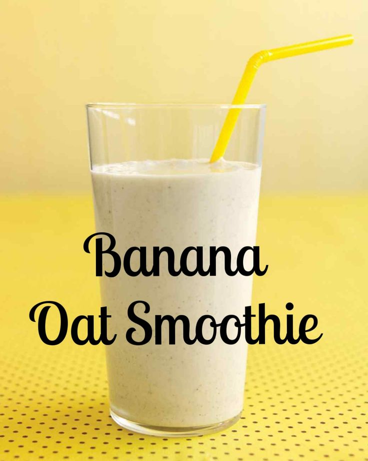Banana-Oat Smoothie   Martha Stewart Living - Lean protein from milk and yogurt gives energy; soluble fiber from oats and banana boosts heart health.