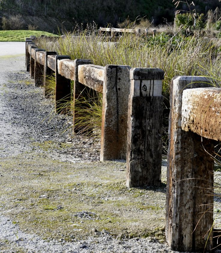 RUSTIC RAILWAY SLEEPER RAIL AND POST FENCE [ PEKAPEKA SWAMP]
