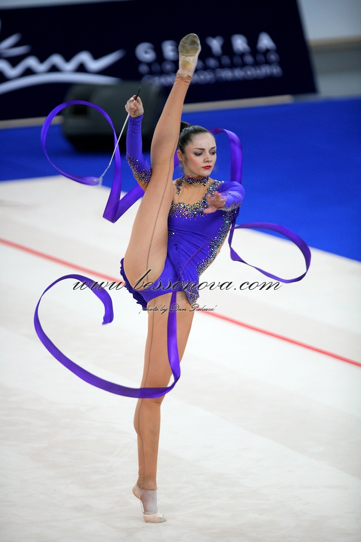 the grace and flexibility required in rhythmic gymnastics The event requires balance, flexibility, grace  at least one static strength move is required,  individual rhythmic gymnastics women rope games gold.