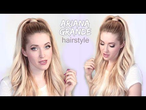 Best 25 half ponytail ideas on pinterest winter - Ariana grande coiffure ...