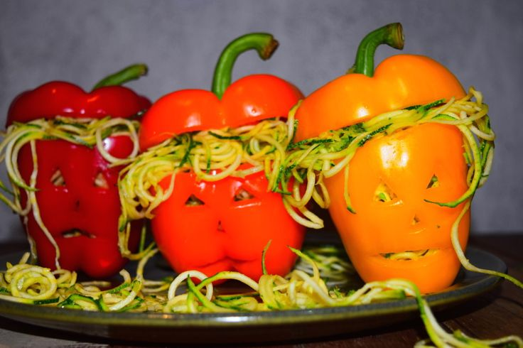Halloween Inspired Stuffed Peppers - Creative Food Art from MyNutriCounter