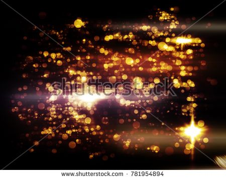 Decorative yellow bokeh, defocus bright light abstract background.
