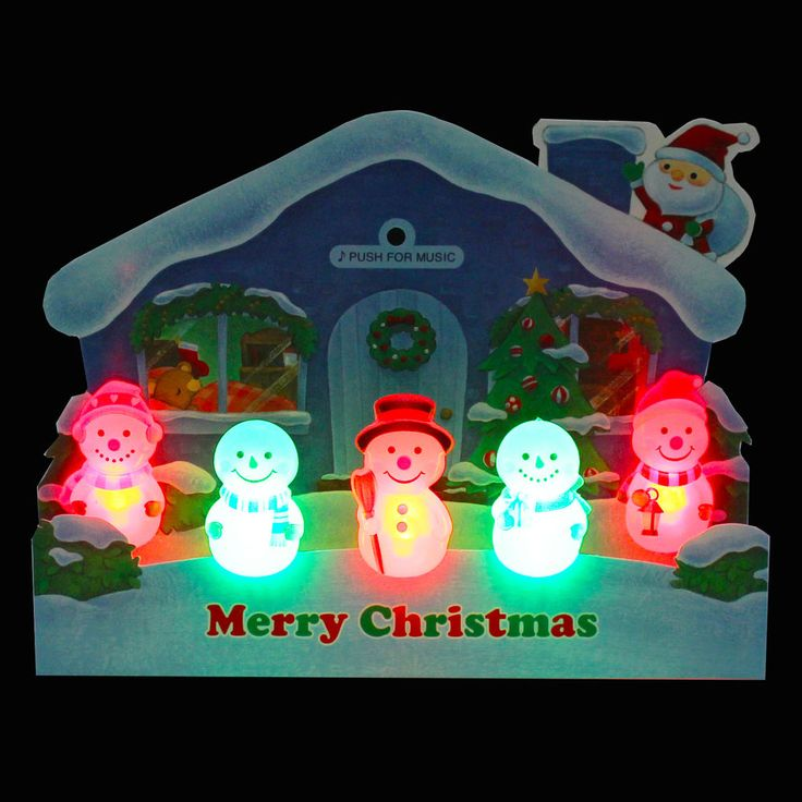 259 best christmas premium greeting cards gift images on pinterest illuminated jolly snowman lights and 3 melodies pop up christmas greeting card m4hsunfo