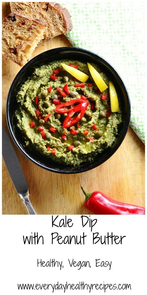 Kale Dip with Peanut Butter