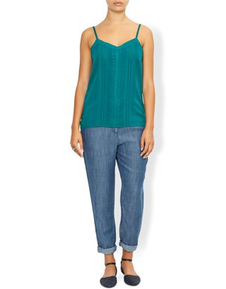 Claudine Woven Front Cami Top