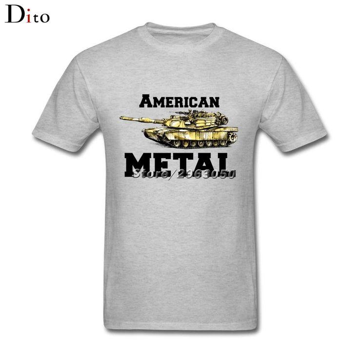 American Metal M1 Abrams Tank T-shirt Men Man's Casual White Short Sleeve Custom XXXL Group  T Shirts #Affiliate