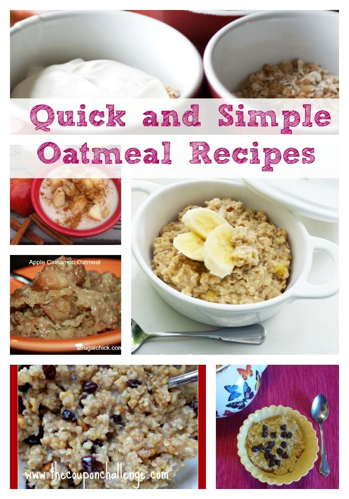 When it's cold outside, a nice bowl of oatmeal is the perfect breakfast.  Keep your mornings interesting with these 9 QUICK and simple oatmeal recipes.Oatmeal Recipe