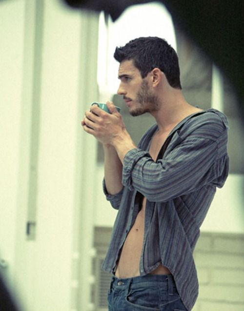 Image result for sexy men with coffee