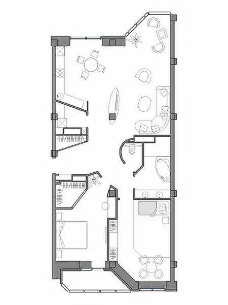 Дизайн интерьера квартиры на ул. Севастопольская г. Тюмень