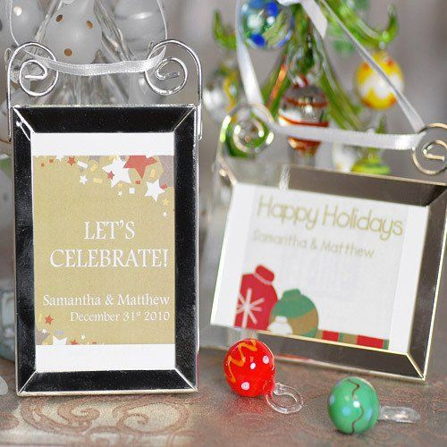 Christmas Party Favors Ideas - Hanging Picture Frame Ornament