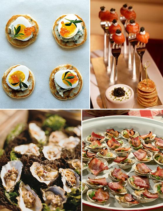 expensice appitizers and cavier   Wedding Reception Menu