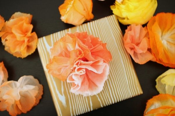 Paper towel flowers tutorial from thesweetestoccasion