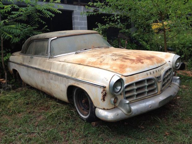 """55 Chrysler C-300 ... said to be Chassis #001 - the first ever. Also """"claimed to have finished second in the 1955 Daytona Flying Mile."""""""