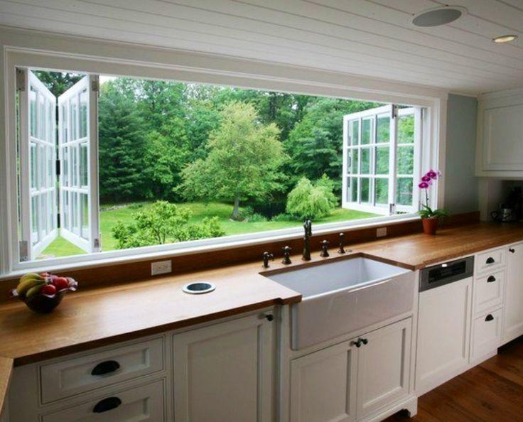 Kitchen w/ butcher block countertops