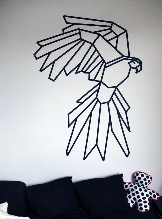 masking-washi-tape-wall-decor-diy-parrot