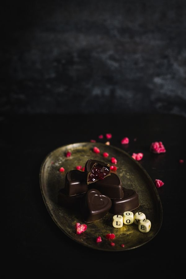 malinowe czekoladki