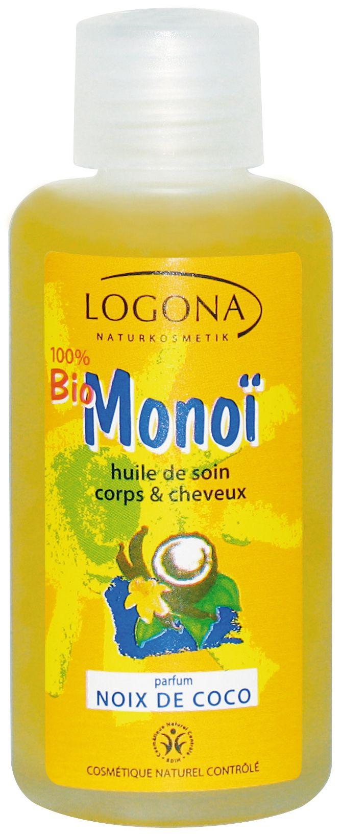 Logona - MONOÏ BIO Noix de Coco Huile de Soin Corps & Cheveux 100 ml - Boutique bio